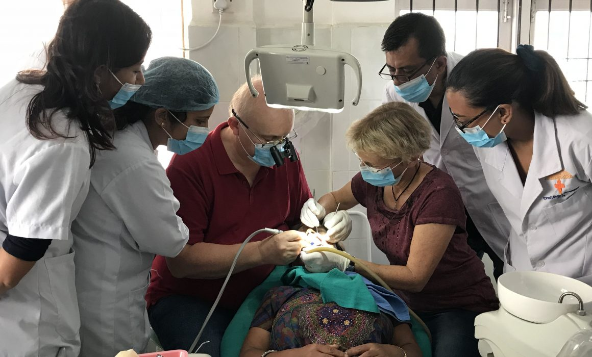 Dr. Abel Wolfgang providing CME to dental surgoens