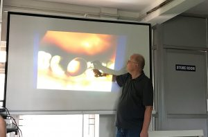 Dr. Abel Wolfgang providing CME to dental surgeons